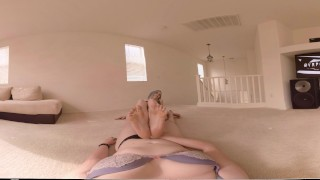 Lux Lives puts her feet in your face Female POV 360VR 4kHD