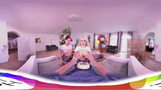[HOLIVR 3D 360VR] Awesome Birthday 3Some_WWW.HOLIVR.COM