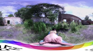 [HOLIVR 3D 360VR] Teen fucked outdoor_WWW.HOLIVR.COM