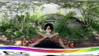 [HOLIVR 3D 360VR] Busty Hot Blode Fucked and Jizzed Outdoor_WWW.HOLIVR.COM