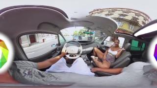 [HOLIVR 360 VR Porn] Car Sex with Hot Blonde Milf