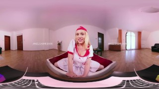 HOLIVR 360 VR Porn Sexy Nurse in Webcam Live. ASMR