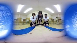 KVR-1707-15 JavRedlight - Three Naughty Japanese School Girls in VR