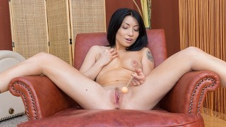 VirtualPornDesire - Asian hottie tries out her new sex toys 180 VR 60 FPS