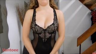 Black Lingerie Vantoee - Youtuber Hot Video