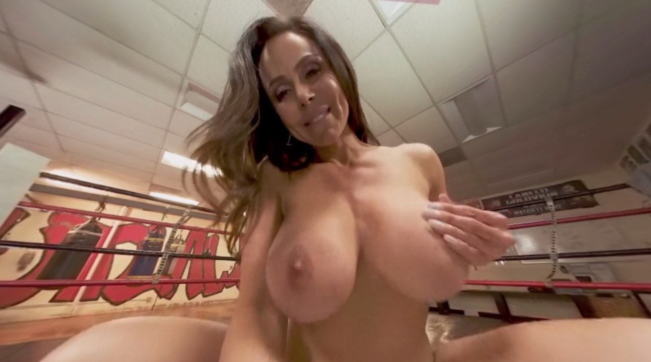 MILF fucks you in the boxing ring